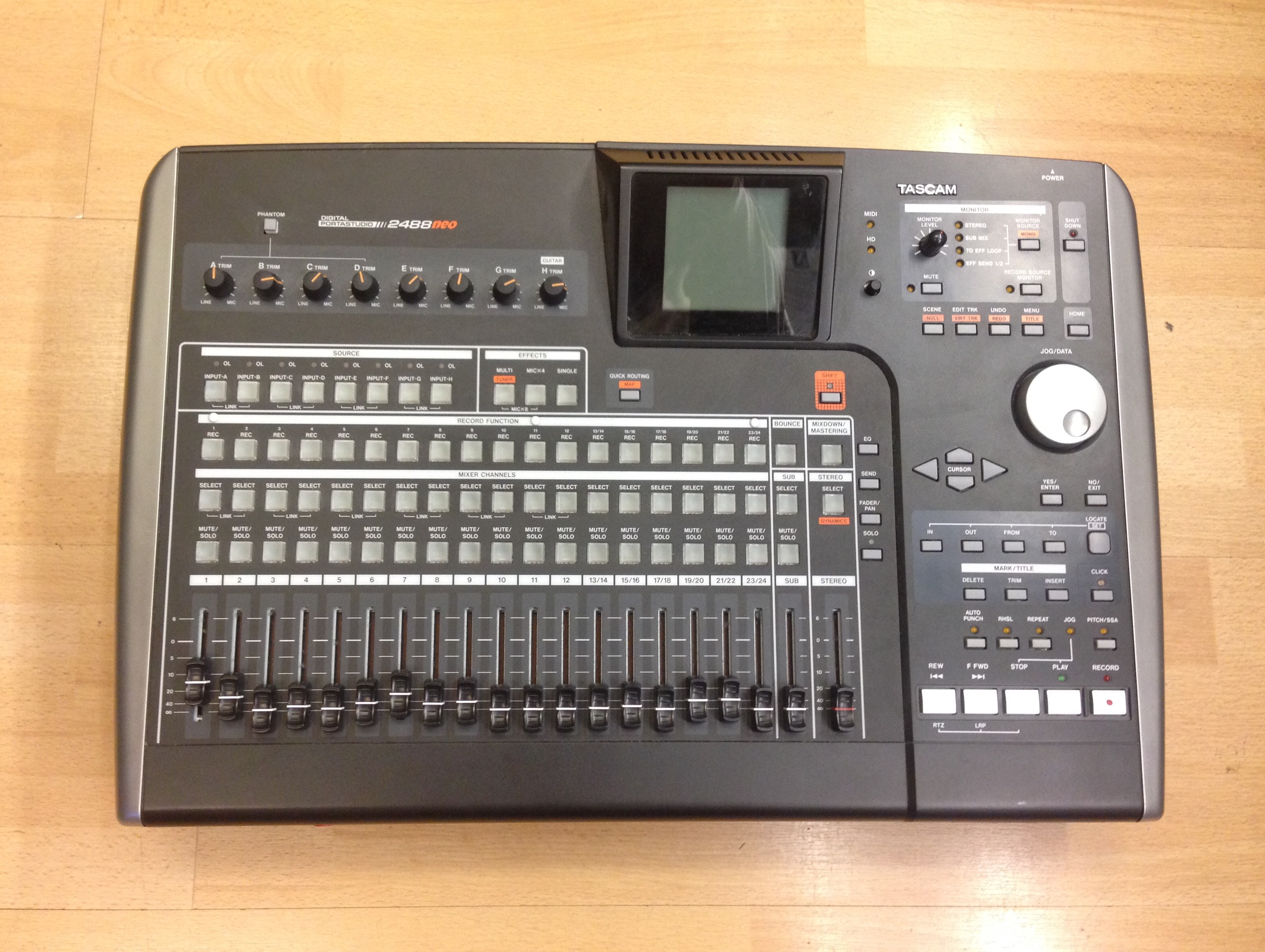 tascam 2488 neo for sale at x electrical rh xelectrical com Tascam Digital Portastudio 2488 Tascam 2488 Tutorial